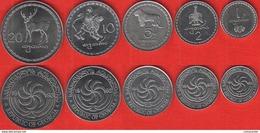 Georgia Set Of 5 Coins: 1 - 20 Tetri 1993 UNC - Géorgie