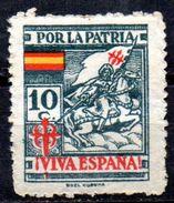 Viñeta De La Coruña. Por La Patria Verde. - Vignettes De La Guerre Civile