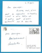 (A673) - Signature / Dédicace / Autographe Original - Charlotte DE TURCKHEIM - Actrice, Réalisatrice, Humoriste - Autographes