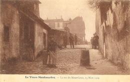 Paris 18e - Le Vieux-Montmartre - La Rue Du Mont-Cenis, 13 Mars 1904 - Edition K.F. - District 18