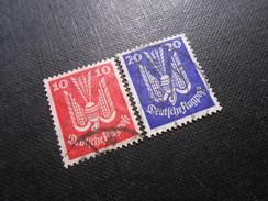 D.R. Mi 345x/346x - 10/20Pf - Flugpost 1924 - Mi € 10,00 - Germany