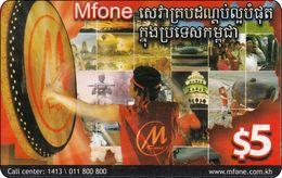 Kambodscha Phonecard  Mfone - Cambodia