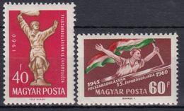 HUNGRIA 1960 Nº 1363/64 NUEVO - Hungría