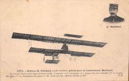 """CHATILLON-sur-SEINE  -  L'Aviateur """" Georges MAILFERT """" Né En 1875  -   Aviation, Avion,  Biplan """"H. Farman """" - Chatillon Sur Seine"""