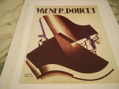 ANCIENNE PUBLICITE ART DECO  WIENER ET DOUCET CABARET BOEUF SUR LE TOIT  DE PAUL COLLIN 1928 - Publicité