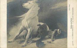 A-17-7881 : SALON DE PARIS. LA CAVALE INDOMPTABLE PAR E. DEBAT-PONSAN. CHEVAL - Malerei & Gemälde