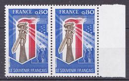N° 1926 Le Souvenir Français: Une Paire De 2 Timbres Neuf Impeccable - France
