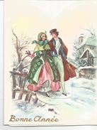 Bonne Année. Couple Belle-époque Dans Un Village Enneigé. - Neujahr