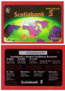 """ANGUILLA: ANG-6A """"Scotiabank"""" CN:6CAGA 1995 Rare (5.000ex). Used - Anguilla"""