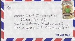 Trinidad & Tobago Luftpost Air Mail Par Avion 1991 Cover Brief USA $2.50 Fugl Bird Vogel Oiseau Stamp - Trinidad & Tobago (1962-...)