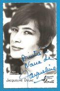 (A691) - Signature / Dédicace / Autographe Original - Jacqueline DULAC - Chanteuse - Autographes