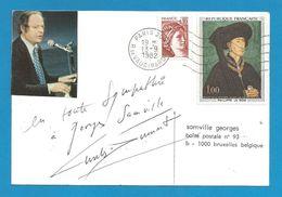(A692) - Signature / Dédicace / Autographe Original - Charles DUMONT - Auteur, Compositeur, Interprète - Autographes