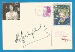 (A694) - Signature / Dédicace / Autographe Original - Anny DUPERREY - Actrice - Autographes