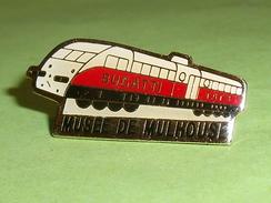 Pin's / Trains / TGV : Bugatti Tat3 , Musée De Mulhouse    TB2p - TGV