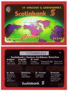 "St. VINCENT & GRENADINES: STV-12A ""Scotiabank"" CN:12CSVC Old (1995). Rare (5.000ex). Unused - St. Vincent & The Grenadines"