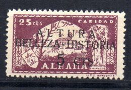 Viñeta   Nº 38 Con Sobrecarga Altura Belleza-historia  Alhama De Granada. - Verschlussmarken Bürgerkrieg