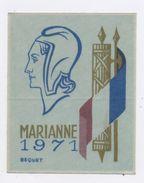 FRANCE - MARIANNE DE BEQUET 1971 SUR TISSU AUTOCOLLANT NEUF - 1971-76 Marianne Van Béquet