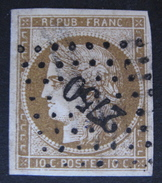 LOT DF/152 - CERES N°1b ☛ Signé + Certificat - PC 2750 ROYAN (Charente Inf) Cote : 500,00 € - 1849-1850 Cérès