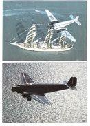 2 Cards - Junkers Ju 52 3m - D-AQUI - Plane - Airplane - Flugzeug - Avion - 1946-....: Modern Era