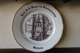 * Meetkerke (Brugge - Bruges) * 1 Uniek Bord Magvam Porselein Van Meetkerke (bij Brugge) - Ceramics & Pottery