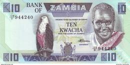 ZAMBIA 10 KWACHA ND (1988) P-26e UNC [ZM127e] - Zambie