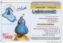 KURDISTAN(North IRAQ) - Korek Telecom Mini Prepaid Card 7000 IQD, Used - Phonecards