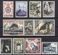 MONACO 1958 - LOT N° 490 / 492 / 493 / 494 / 495 / 496A498 / 499 / 500 / 501 / 502 - NEUFS* K350 - Monaco