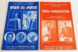 2 Partitions Sheet Music DANIEL GIRAUD / DINO MARGELLI / MICHEL CAFFIER / LYDIE KOTALA / YVON MASSON * Accordéon - Music & Instruments