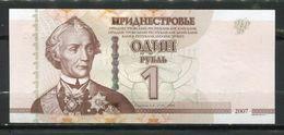 TRANSNISTRIE TRANSNISTRIA MOLDAVIE 1 ROUBLE 2007 PICK 42   BILLET NEUF UNC - Banknotes