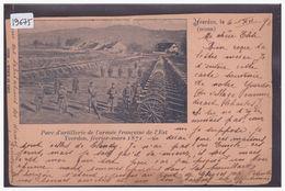DISTRICT D'YVERDON - YVERDON - PARC D'ARTILLERIE DE L'ARMEE FRANCAISE EN 1871 - ( CARTE RECOLLEE, PLIEE, COUPEE ) - VD Vaud