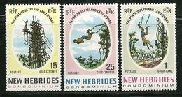 "New Hebrides, Brityish  ""Land Diver, Pentecost Islands""     Set     SC# 135-37  MNH** - English Legend"