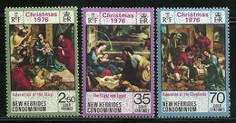 "New Hebrides,British       ""Christmas 1976""     Set    SC# 211-13   MNH** - English Legend"