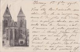 Bg - Cpa VARZY - Eglise Et Statue De Dupin - Autres Communes