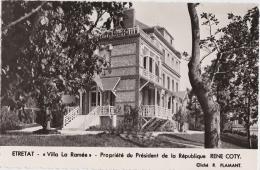 Bg - Cpsm Petit Format ETRETAT - Villa La Ramée - Propiété Du Président De La République René COTY - Etretat