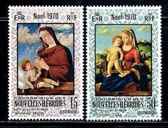 New Hebrides,French     Christmas 1970    Set    SC# 161-62 MNH** - French Legend