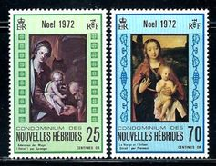 New Hebrides,French      Christmas 1972    Set   SC# 186-87 MNH** - Nuevos
