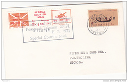 1971 COVER Nicosia CYPRUS Stamps GB POSTAL STRIKE COURIER MAiL LABEL Great Britain - Cyprus (Republic)