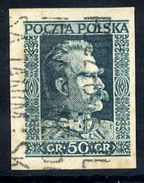 POLAND 1931 Pilsudski 50 Gr. Imperforate, Used.  Michel 270U - 1919-1939 Republic