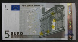 """5 Euro France """"U"""" 2002 Trichet L031G3 LUXE / UNC - EURO"""