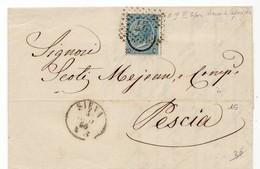 0960 SIENA NUMERALE A PUNTI X PESCIA 1866 Con Testo - Marcofilie
