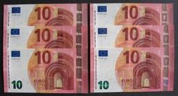 """10 Euro France """"UA-UB-UC-UD-UE-UF"""" 2014 Draghi U010H1-U009F2-U005G3-U005H4-U006B6-U003H6 LUXE / UNC - EURO"""