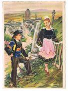 CPA Illustrée Charles Homualk 1951 - En Parcourant La Bretagne - LOCRONAN - Homualk