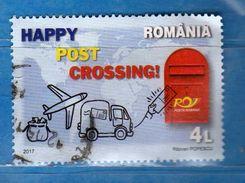 Romania - ° 2017 - HAPPY POST CROSSING. Used  Vedi Descrizione - 1948-.... Repubbliche