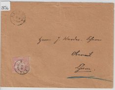 1880 Helvetia Helvtie 38/30 - Stempel: Ballwyl Zwergstempel Nach Cham 8.IX.80 - 1862-1881 Sitzende Helvetia (gezähnt)