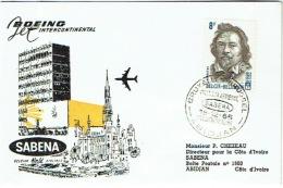 Aviation. Boeing. SABENA. Bruxelles-Abidjan. 1965. - Lettres & Documents