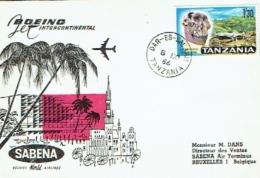 Aviation. Boeing. SABENA. Tanzania, Dar-es-Salam  1966. - Lettres & Documents