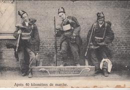 Cpa 2 Scans Bourg Leopold Apres 40 Kilometres De Marche Manoeuvre 1910 Correspondance 73 Eme De Ligne 2eme Cie - Leopoldsburg (Camp De Beverloo)