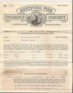 USA, Hartford Fire Insurance Company, Hartford Connecticut (1405) - Documents Historiques