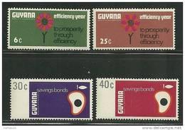 Guyana    Efficiency Year   Set    SC# 56-59 MNH** - Guyana (1966-...)