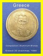 Greece Coin  20 Drachmas, 1990 Ελλάδα 20 δραχμέ&sig - Grecia